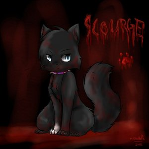 scourge! he's an evil cat made bởi erin hunter. he is in a book. i hiển thị bạn pic of him.(2 find thêm pics of him go 2 Google hình ảnh and type in scourge of bloodclan.) i luv him so much!