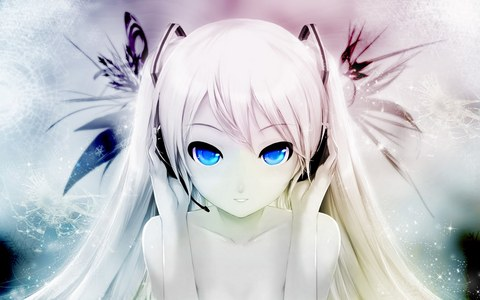 i Amore this picture of miku its so pretty :D