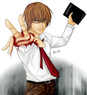 I like Light but I just find him a little bit creepy. Here's why first of all he picked up a book called Death Note and kept it! Then he goes around killing all of these people. 초 of all his evil laugh is creepy too.