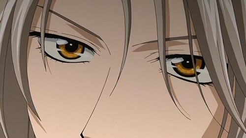 Ryuuki Shi -from Saiunkoku Monogatari ;) HOT DAMN! AND this is a good question, I am fascinated da eyes, and they are one of the things that attract me most to a person, is their eyes.