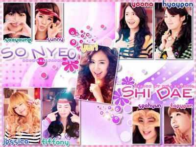 1) Hyoyeon 2) Taeyeon 3) Sooyoung 4) Seohyun 5) Sunny ------------ 6) Yuri 7) Jessica 8) Tiffany 9) Yoona I like them all!