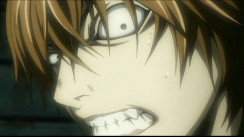 the very last episode of death note.....light and his accomplice had these spaz attacks and the animazione got really weird all of a sudden......it looked something like this...