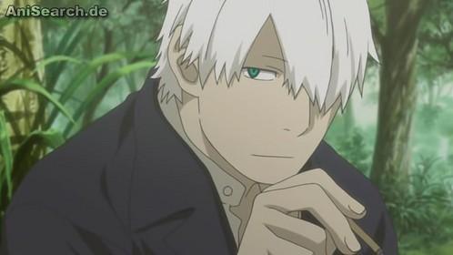 Hows this? Ginko from mushishi he's in his twenties but he looks in his thirties to me.