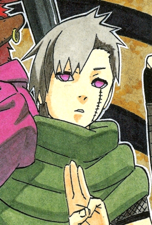 Yagura from Naruto. Apparently he's a young man. But he looks like a kid.
