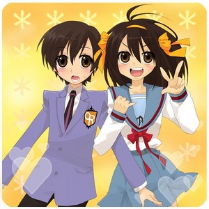 Haruhi Suzumiya and Haruhi Fujioka :D