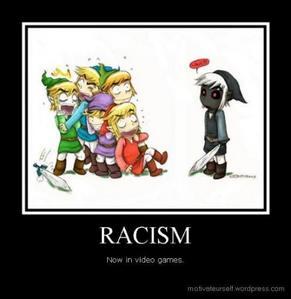 """더 많이 of a game than an 아니메 though... """"RACISM - Now in video games."""""""