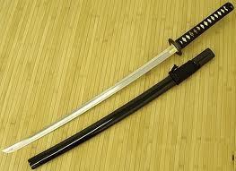 A katana...no need for superpowers یا zanpakuto stuff...just pure badass skill!!!