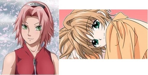 Sakura from NARUTO -ナルト- and Sakura from Tsubasa frankly....Tsubasa Sakura is way better looking and better in general.