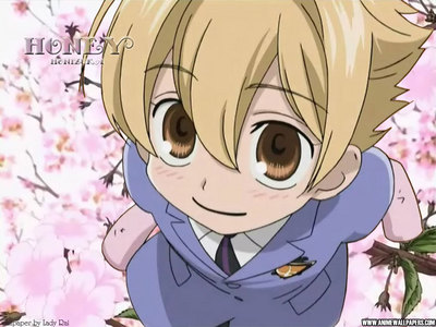 Honey senpaii from OHHC. XD he looks I dunno 10 but he's actually 18