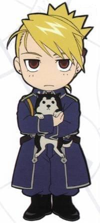 Riza is not amuzed. Nor the little dog too.