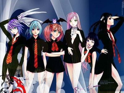 Rosario vampire!!!! You can watch it in english dub at (www.dubhappy.com) Enjoy :D