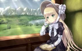 victorique from gosick!! shes a gray 狼 :3