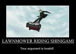 Ronald from Black Butler. Oh, him and his lawn mower.