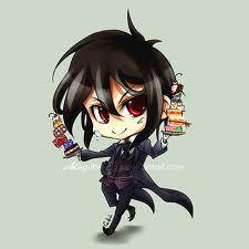 Sebastian from black butler he looks so cute as a chibi!