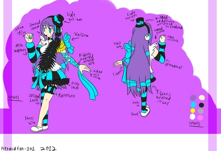 My UTAU Naomi Nako~ I'm even going to make the costume myself. :3