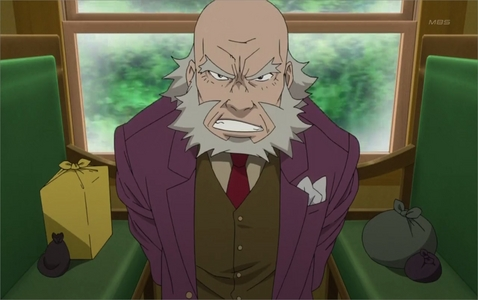 Here's a picture of some grumpy, old man from an episode of 《黑执事》 II on his bad side.
