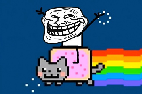 Meow-mix... Nyan cat is easy to get use to~