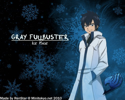 """Gray Fullbuster:> He's smart, funny, skillful, hot:"""">, and he's my favorito! character in Fairy Tail"""