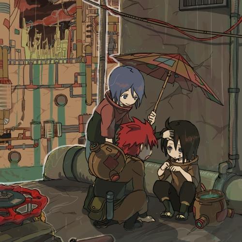 "The Amegakure Orphans (Konan, Nagato and Yahiko) from [i]""Naruto: Shippuuden""[/i]. c:"