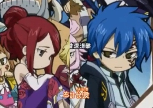 Fairy Tail FTW!!!! <3 chibi Erza and Jellal.