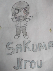 Sakuma-kun! i drew it! yeah i know there are purple lines... i thought that the pencil was grey... i know it's stupid! hehehe XD
