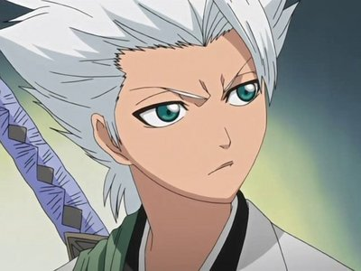 """Hitsugaya Toushiro (don't know if i spelled """"Toushiro"""" right... everyone seems to spell it differently) anyway he's the 10th squad captain from Bleach, the age is unknown but since he's a Shinigami he's waaaaayyy older than he looks. his Zanpakuto is Hyourinmaru, an ice-dragon. he loves sandía & candied beans. he's a little shorter than he should be. :P he's got a cold personality but he really cares on the inside & he's very mature."""