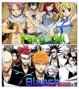 1) Fairy Tail <3 2) Bleach <3