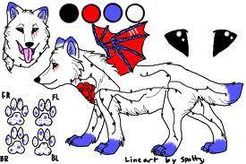 a wolf-dragon hybrid!