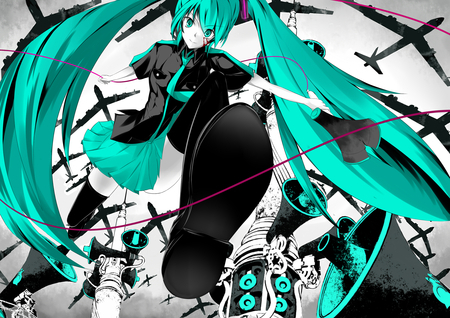 Miku Hatsune is one of the only people who I know of that wears teal/turquoise =___= Why?? Its such a great color!!
