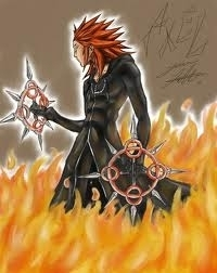 In real life? My crush.*starts dreaming* He's a nerd, but so am I. Fictional??? Axel is HOT! And he is MINE! Bet Du didn't that coming. :P