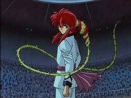 Kurama and his Rose Whip.