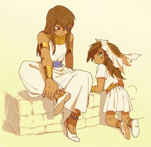 Mana and Mahad (as kids) from Yu-Gi-Oh
