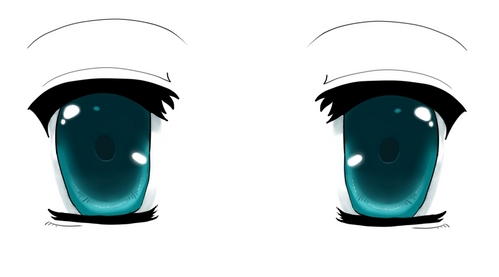 Eyes, for some reason. Always the eyes.