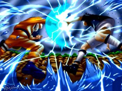 Naruto(enemy) and Sasuke(myself)