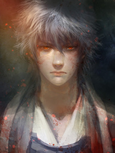 I 爱情 this image so much *_* This sexy beast right here is Gintoki Sakata from 《银魂》 xD