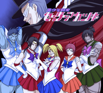 -whistles- Behold! The Акацуки Sailor Moon version! xD