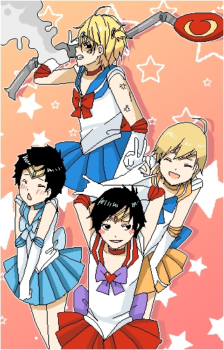 durarara as sailor moon :D