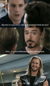 Thor because he is a demogod and 爱情 the actor Chris Hemsworth.