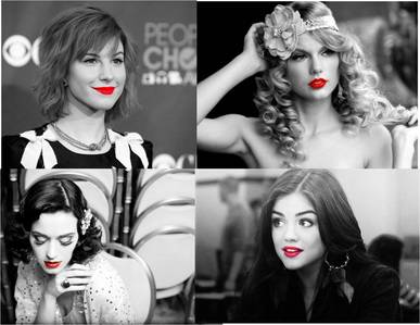 LUCY HALE, HAYLEY WILLIAMS, KATY PERRY AND TAYLOR SWIFT.