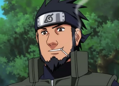 I would say L, but not ALWAYS..... umm... Asuma Sarutobi always has his cigarette.