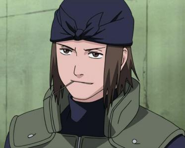 Genma from 火影忍者 always has a toothpick in his mouth. ^-^