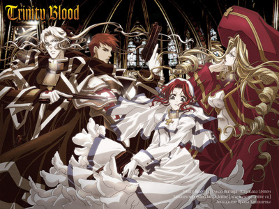 I think 你 could try these: Inuyashia Kekkaishi Trinity Blood have fun:)! (picture from Trinity Blood)