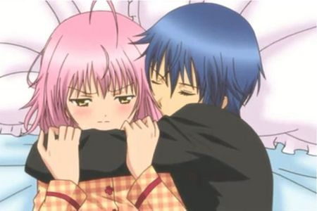 easy. Amu and ikuto from shugo chara. He confessed to her, but she'l never confess to him. but she so should