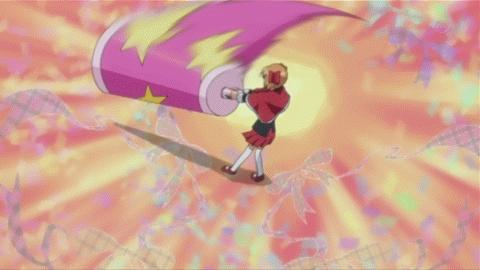 yaya from shugo chara. she has a giant baby rattle