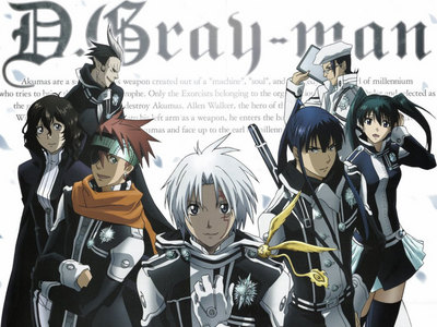 D. Gray man is a pretty good 日本动漫 if 你 don't mind a lot of fillers.