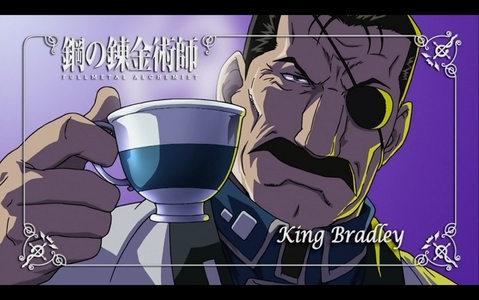 Need I remind あなた all that the 上, ページのトップへ bad Guy in any アニメ is clearly Fuher King Bradly from FMAB