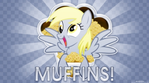 Derpy Hooves saw a 松饼 树 on the tallest 爬坡道, 小山 of Equestria. She then flew up to it and harvested all the muffins. THE END