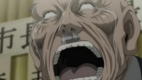 Gisuke Sasaki from 彩虹 Nisha Rokubou no Shichinin. It's a pretty funny violent anime. xD
