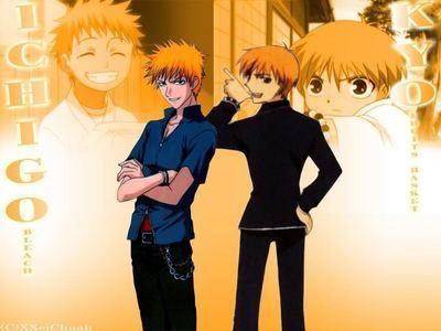 Kyo and Ichigo :p ahhh me and straw berry headed dudes XD