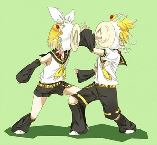len and rin kagamine! They are both blond!!!!